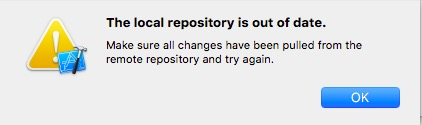 The local repository is out of date