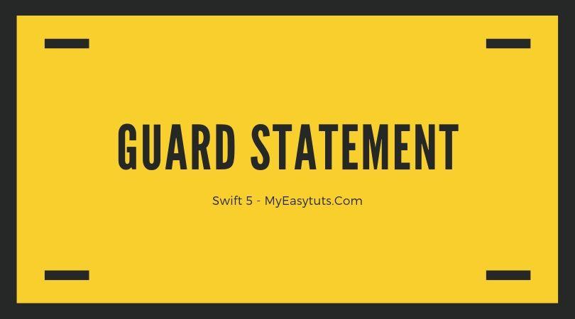 guard-statement-swift-5