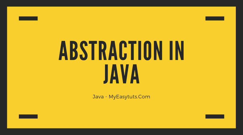 Abstraction-in-java