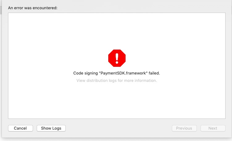 Code Signing Failed XCode